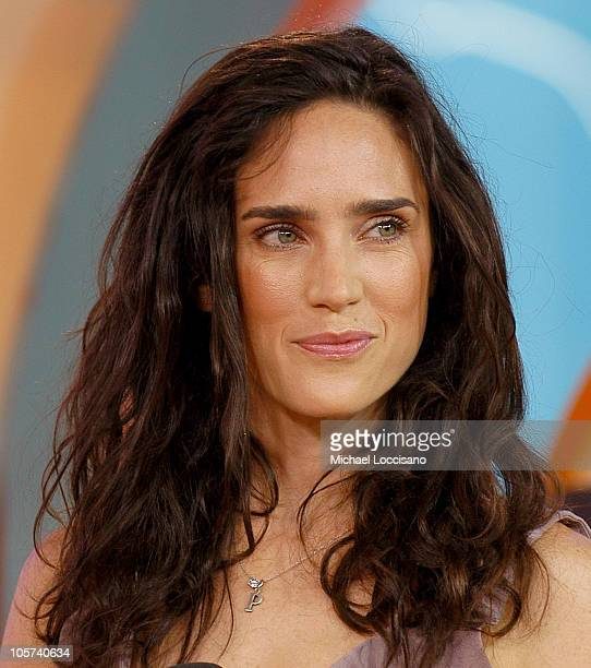 Jennifer Connelly during Jennifer Connelly Visits MTV's 'TRL' July 7 2005 at MTV Studios Times Square in New York City New York United States