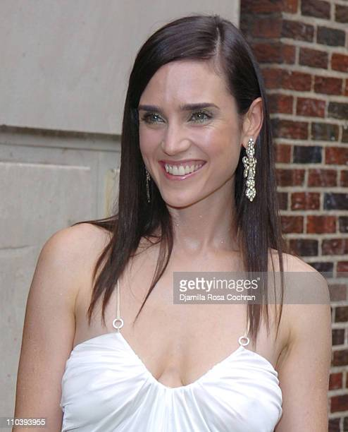Jennifer Connelly during Jennifer Connelly Visits the 'Late Show With David Letterman' June 30 2005 at Ed Sullivan Theatre in New York City New York...