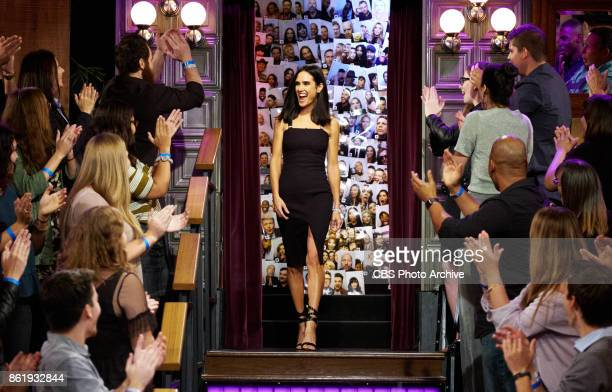 Jennifer Connelly greets the audience during 'The Late Late Show with James Corden' Tuesday October 10 2017 On The CBS Television Network