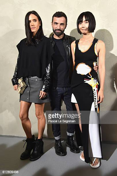 Jennifer Connelly Nicolas Ghesquiere and Bae Doona attend the Louis Vuitton show as part of the Paris Fashion Week Womenswear Spring/Summer 2017 on...