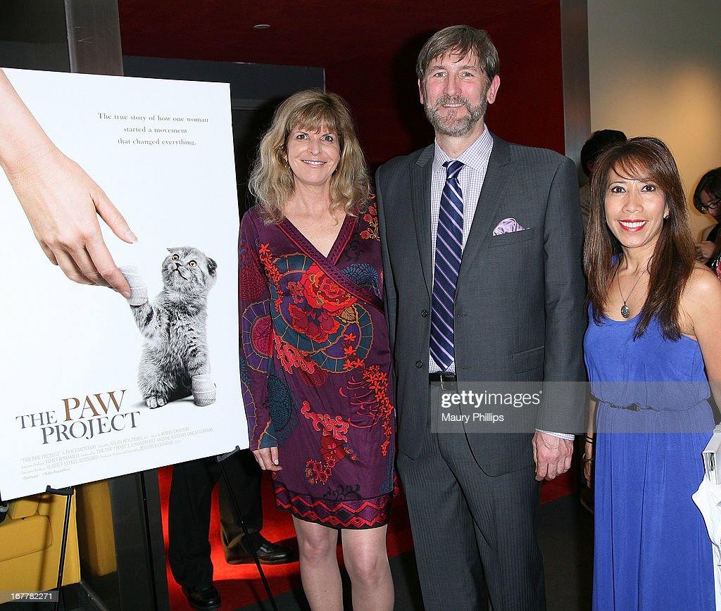 Jennifer Conrad, Jim Jensvold and Annette Masters attend The Paw Project Premiere on April 29, 2013 in West Hollywood, California.