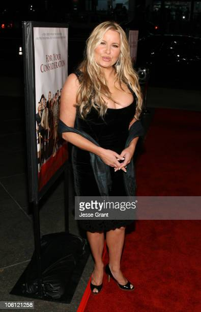 Jennifer Coolidge during 'For Your Consideration' Los Angeles Premiere Red Carpet at Director's Guild of America in Los Angeles California United...