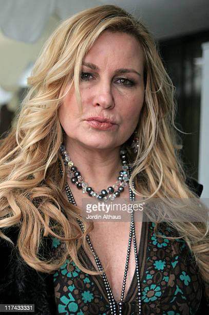 Jennifer Coolidge during Haven House 2007 Oscar Suite Day 2 at Private Residence in Beverly Hills California United States