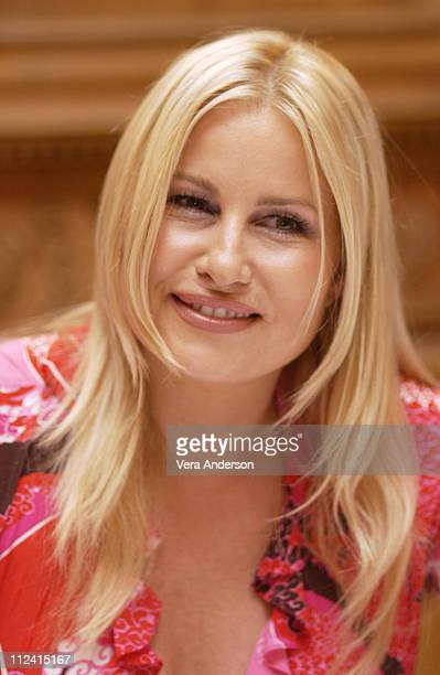Jennifer Coolidge during 'Legally Blonde 2 Red White Blonde' Press Conference with Reese Witherspoon Bob Newhart Jennifer Coolidge and Regina King at...