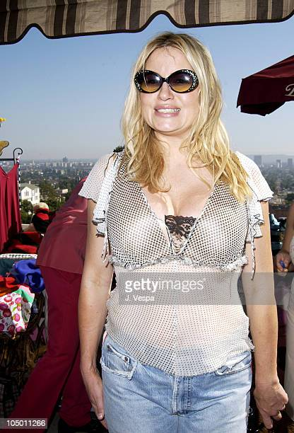 Jennifer Coolidge wearing Fifi Romeo sunglasses during The Cabana Beauty Buffet Day 2 at The Chateau Marmont in Los Angeles California United States