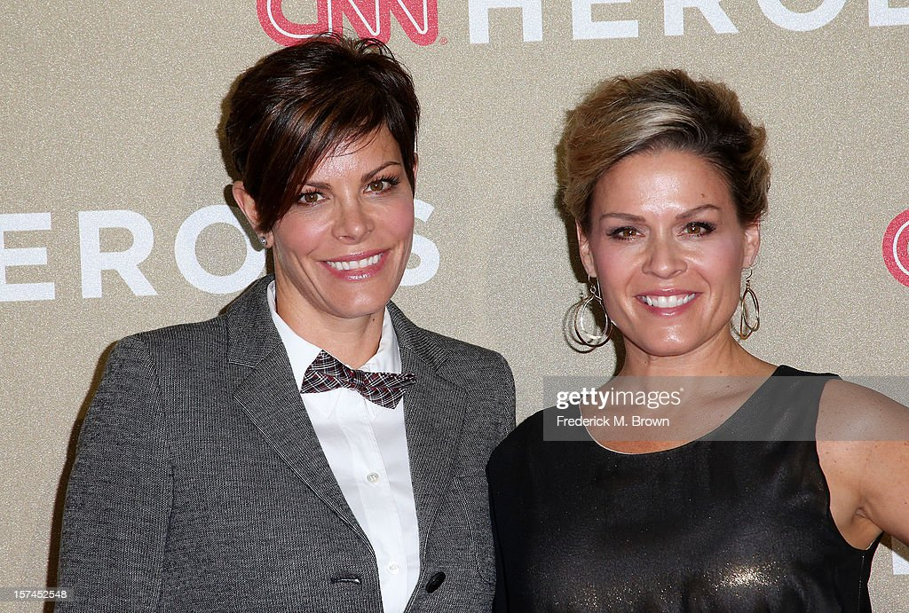 Jennifer Cora (L) and chef <a gi-track='captionPersonalityLinkClicked' href=/galleries/search?phrase=Cat+Cora&family=editorial&specificpeople=4166787 ng-click='$event.stopPropagation()'>Cat Cora</a> attend the CNN Heroes: An All Star Tribute at The Shrine Auditorium on December 2, 2012 in Los Angeles, California.