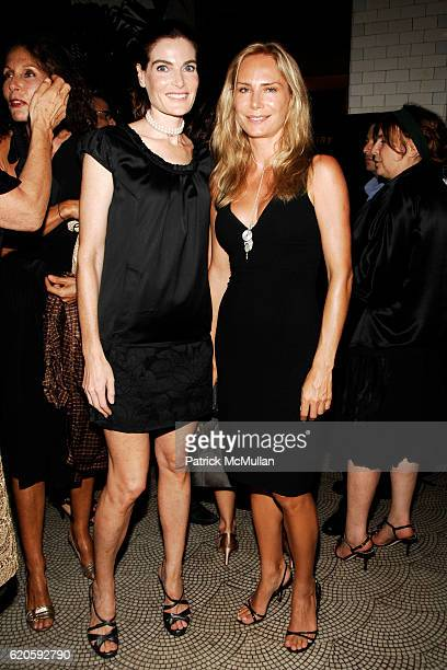 Jennifer Creel and Valesca GuerrandHermes attend Private Dinner hosted by CARLOS JEREISSATI CEO of IGUATEMI at Pastis on September 6 2008 in New York...