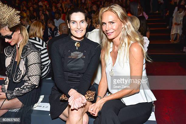 Jennifer Creel and Valesca GuerrandHermes attend Vivienne Tam SS2017 Runway Show at The Arc Skylight at Moynihan Station on September 12 2016 in New...