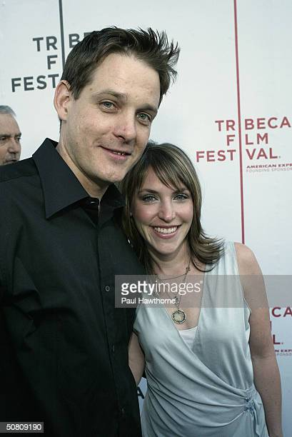 Jennifer Crystal Foley and her husband Mike Foley attend the premiere of 'My Uncle Berns' during the Tribeca Film Festival at UA Battery Park May 6...