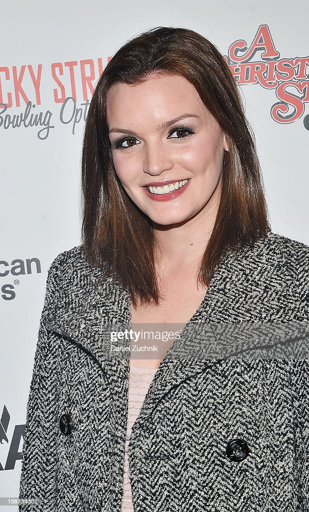 Jennifer Damiano attends 'A Christmas Story: The Musical' broadway opening at Lunt-Fontanne Theatre at on November 19, 2012 in New York City.