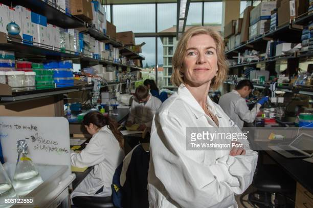 Jennifer Doudna inventor of the revolutionary geneediting tool CRISPR photographed in the Li Ka Shing Center on the Campus of the University of...