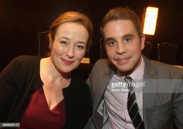 Jennifer Ehle and Ben Platt pose at the 2017 Drama League Awards Luncheon at The Marriott Marquis Times Square on May 19 2017 in New York City