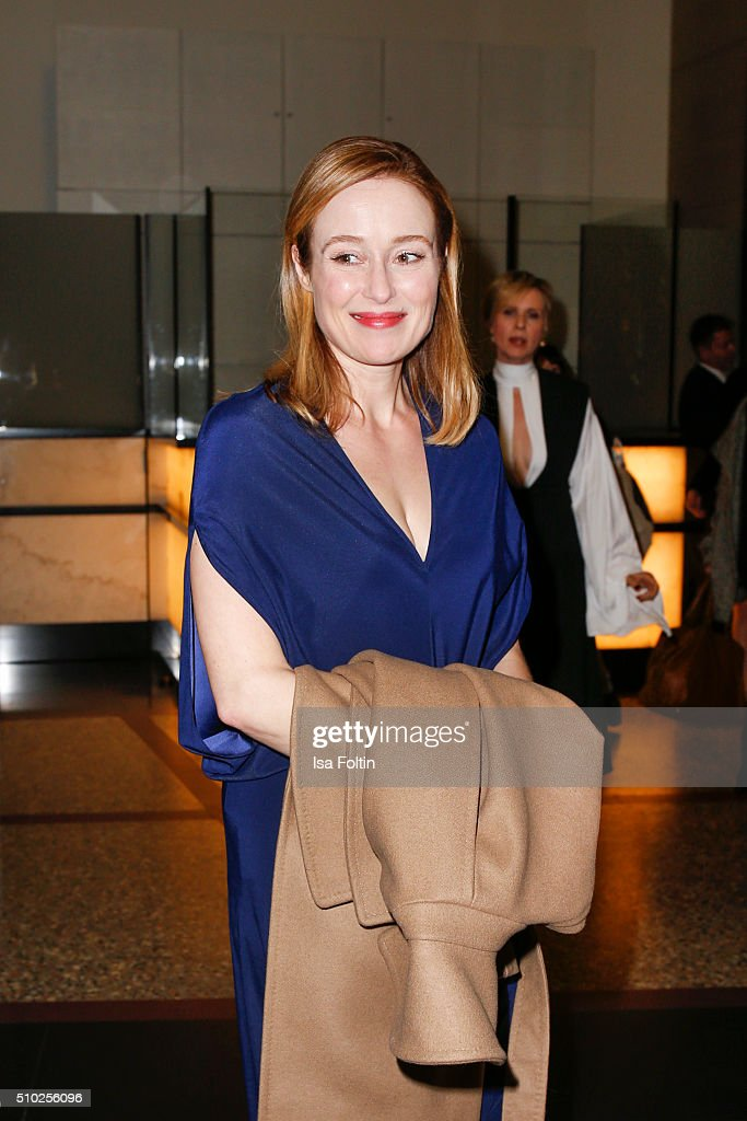 <a gi-track='captionPersonalityLinkClicked' href=/galleries/search?phrase=Jennifer+Ehle&family=editorial&specificpeople=776571 ng-click='$event.stopPropagation()'>Jennifer Ehle</a> attends the Glashuette 'A Quiet Passion' Pre-Premiere Reception on February 14, 2016 in Berlin, Germany.