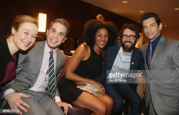 Jennifer Ehle Ben Platt Sarah Jones Josh Groban and Andy Karl pose at the 2017 Drama League Awards Luncheon at The Marriott Marquis Times Square on...