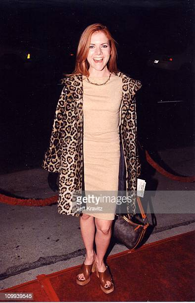 Jennifer Elise Cox at the premiere of Hurlyburly in Los Angeles 1998