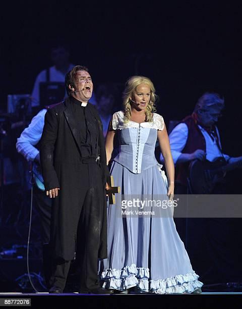 Jennifer Ellison and Damien Edwards perform live at Heineken Music Hall on June 30 2009 in Amsterdam Netherlands