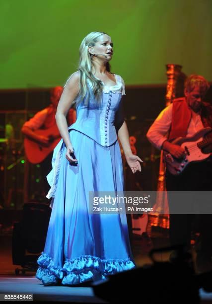 Jennifer Ellison during a dress rehearsal of War Of The Worlds at Elstree Studios Borehamwood in Hertfordshire