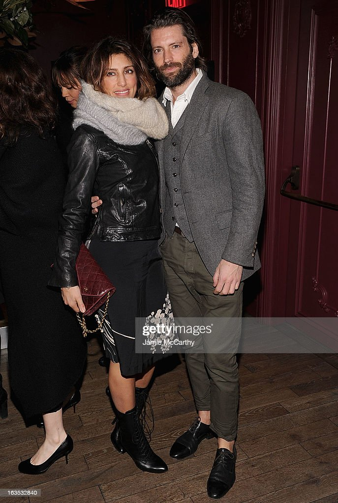 <a gi-track='captionPersonalityLinkClicked' href=/galleries/search?phrase=Jennifer+Esposito&family=editorial&specificpeople=213132 ng-click='$event.stopPropagation()'>Jennifer Esposito</a> and Louis Dowler attend the after party for The Cinema Society with Roger Dubuis and Grey Goose screening of FilmDistrict's 'Olympus Has Fallen' at The Darby on March 11, 2013 in New York City.