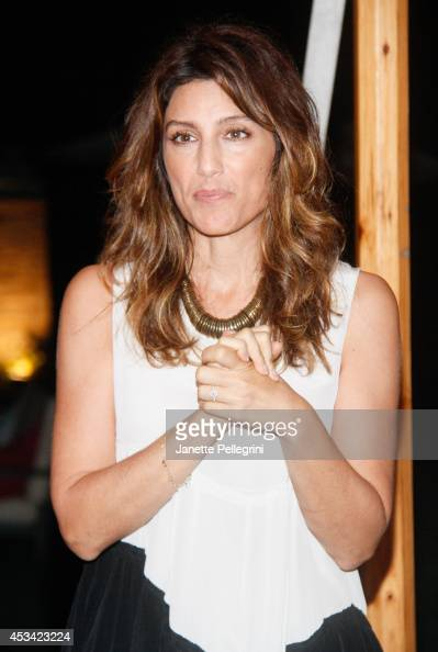 Jennifer Esposito attends Hamptons Magazine And Cover Star Giada De Laurentiis's Private Dinner For Authors Night on August 9 2014 in East Hampton...