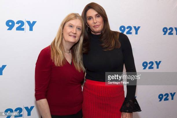 Jennifer Finney Boylan and Caitlyn Jenner attend a conversation on transgender Identity nnd courage at 92nd Street Y on April 25 2017 in New York City