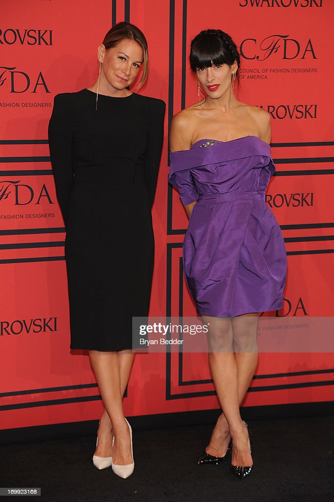Jennifer Fisher and Athena Calderone attend 2013 CFDA FASHION AWARDS Underwritten By Swarovski - Red Carpet Arrivals at Lincoln Center on June 3, 2013 in New York City.
