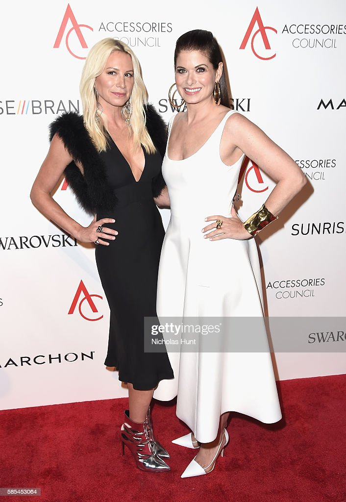 Jennifer Fisher and Debra Messing attend the 2016 ACE Awards at Cipriani 42nd Street on August 2 2016 in New York City