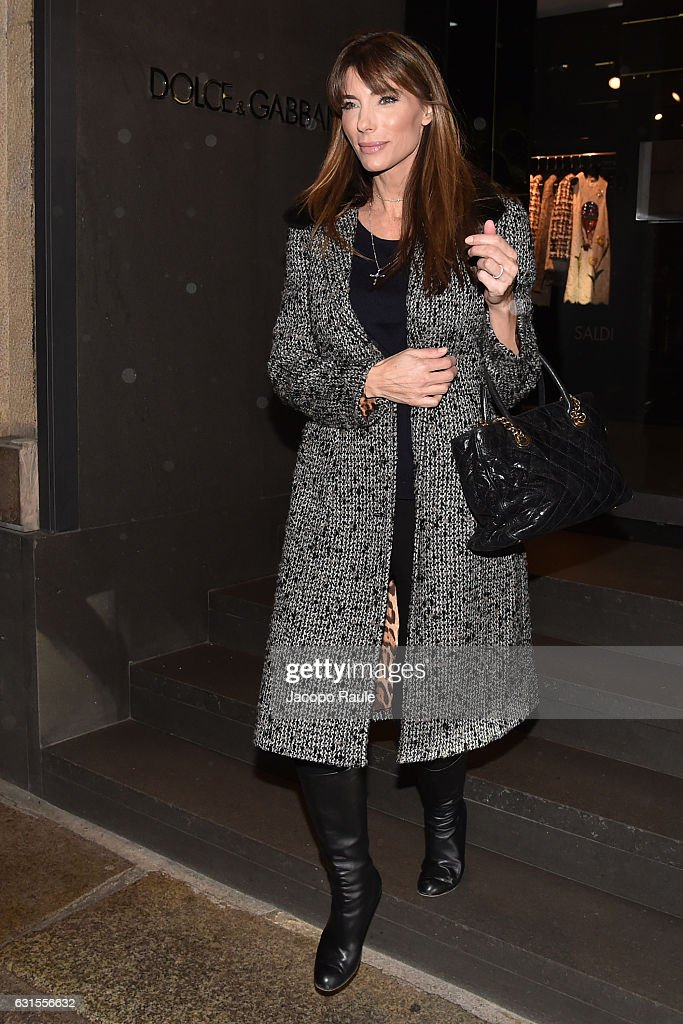 Jennifer Flavin is seen leaving dolce and gabbana store on January 12, 2017 in Milan, Italy.