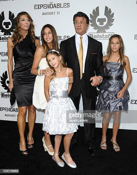 Jennifer Flavin Sophia Rose Stallone Scarlet Rose Stallone Director/ Writer/ Actor Sylvester Stallone and Sistine Rose Stallone attend the premiere...
