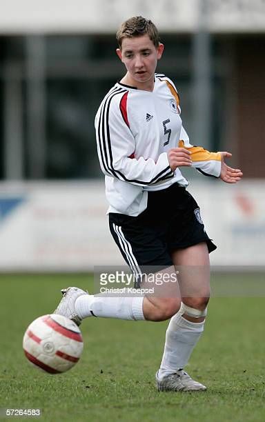 Jennifer Fontein of Germany runs with the ball during the Women's Under 15 International friendly match between Netherlands and Germany on April 5...