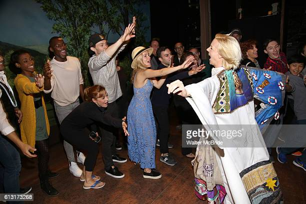 Jennifer Foote with Megan Sikora Bryce Pinkham and Lora Lee Gayer and the cast during the Actors' Equity Opening Night Gypsy Robe Ceremony...