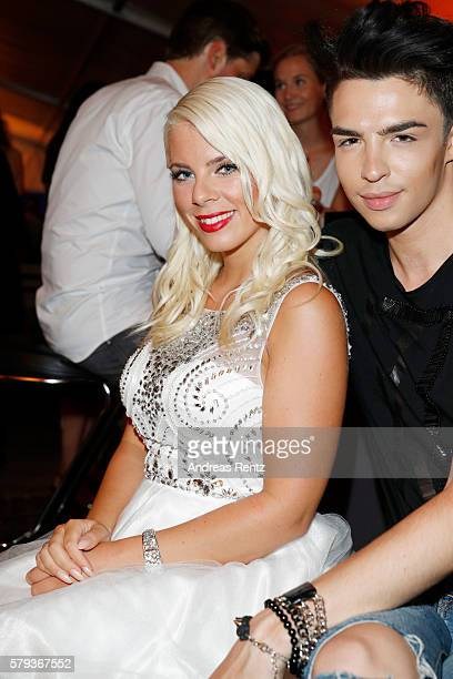 Jennifer Frankhauser and Benedetto Paterno attend the Unique after party during Platform Fashion July 2016 at Areal Boehler on July 23 2016 in...