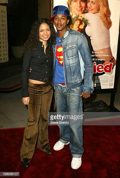 Jennifer Freeman and Wesley Jonathan during 'Just Married' Los Angeles Premiere at Pacific Cinerama Dome in Hollywood California United States