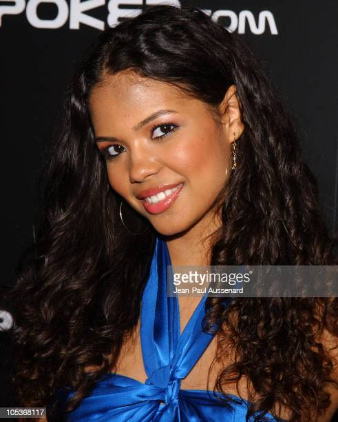 Jennifer Freeman during BosPokercom 2004 Celebrity Poker Tournament Arrivals at Private residence in Beverly Hills California United States
