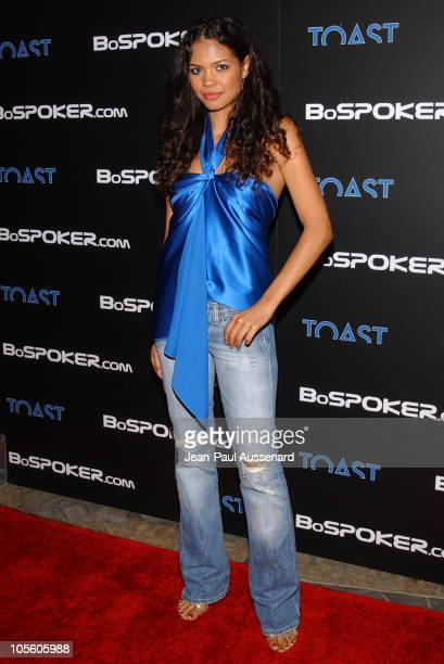 Jennifer Freeman during BosPokercom 2004 Celebrity Poker Tournament Arrivals at Private residence in Beverly Hills California United States