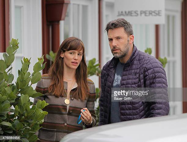 Jennifer Garner and Ben Affleck are seen in Brentwood on June 10 2015 in Los Angeles California