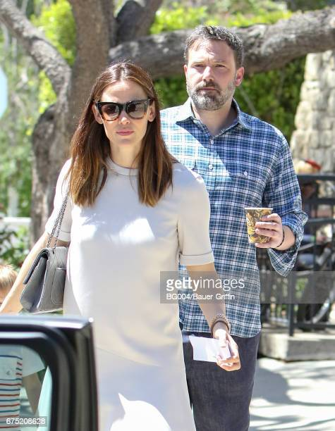 Jennifer Garner and Ben Affleck are seen on April 30 2017 in Los Angeles California