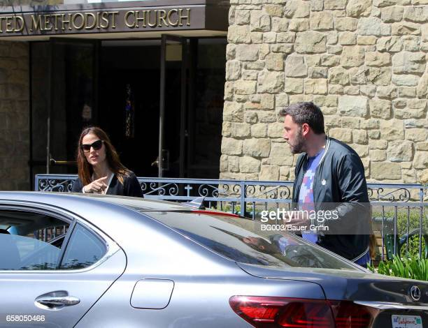 Jennifer Garner and Ben Affleck are seen on March 26 2017 in Los Angeles California
