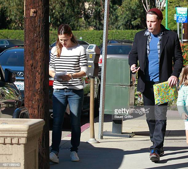 Jennifer Garner and Ben Affleck are seen on November 14 2015 in Los Angeles California