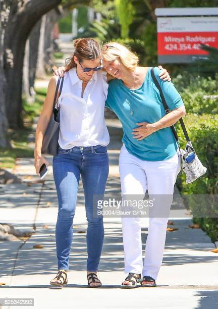 Jennifer Garner and Ben Affleck's mother Christine Anne Boldt are seen on August 1 2017 in Los Angeles California