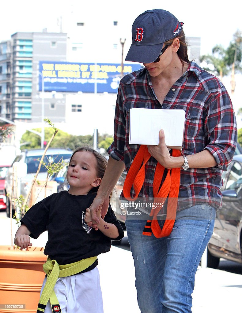 Jennifer Garner and Seraphina Affleck are seen on April 5 2013 in Los Angeles California