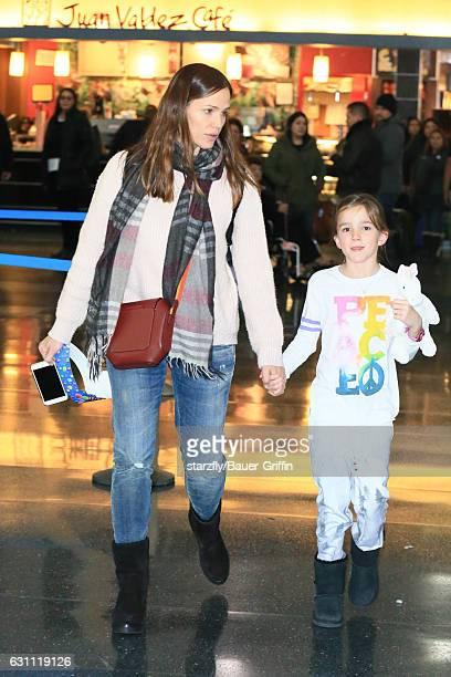 Jennifer Garner and Violet Affleck are seen at JFK on January 06 2017 in New York City