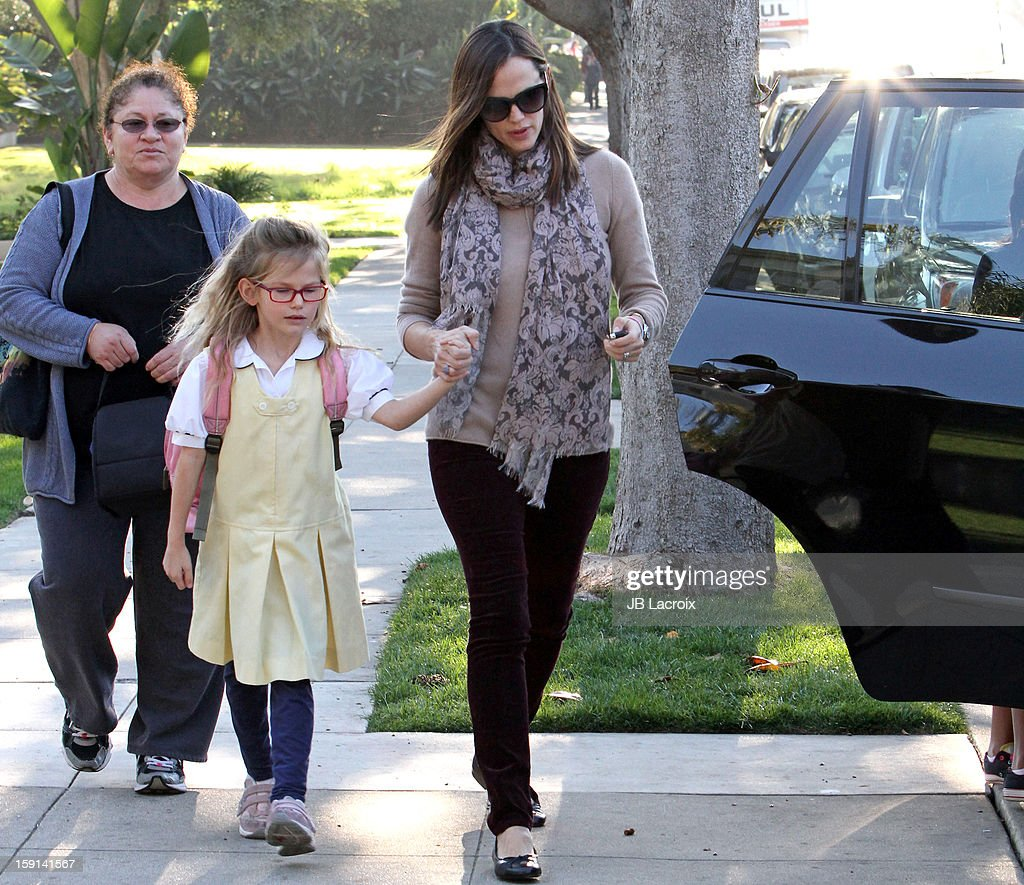 <a gi-track='captionPersonalityLinkClicked' href=/galleries/search?phrase=Jennifer+Garner&family=editorial&specificpeople=201813 ng-click='$event.stopPropagation()'>Jennifer Garner</a> and <a gi-track='captionPersonalityLinkClicked' href=/galleries/search?phrase=Violet+Affleck&family=editorial&specificpeople=4542495 ng-click='$event.stopPropagation()'>Violet Affleck</a> are seen in Santa Monica on January 8, 2013 in Los Angeles, California.