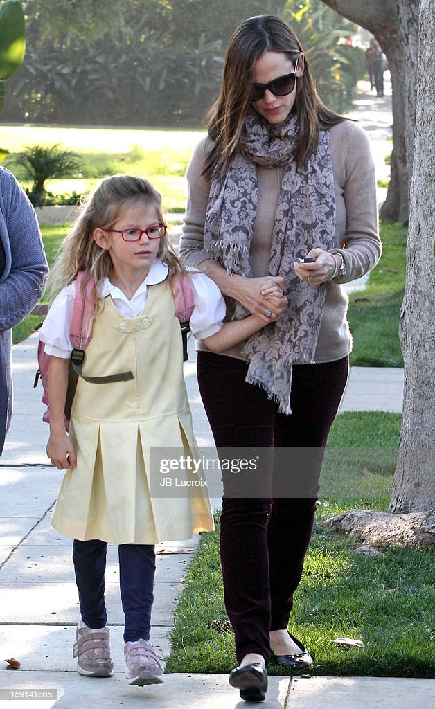 Jennifer Garner and Violet Affleck are seen in Santa Monica on January 8, 2013 in Los Angeles, California.