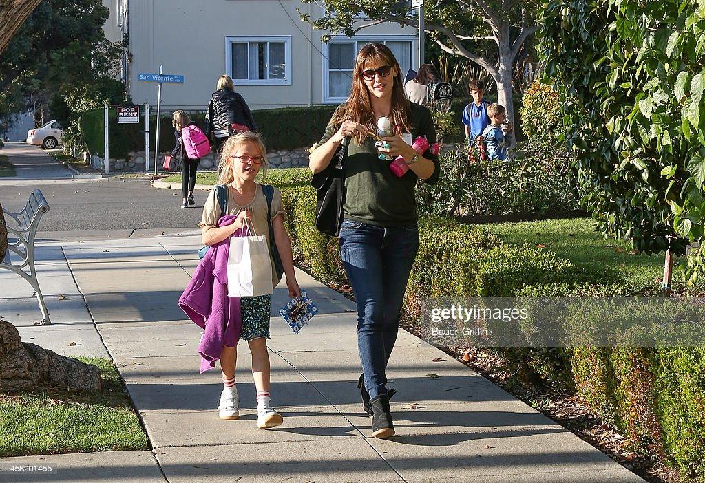 Jennifer Garner and Violet Affleck are seen on December 20, 2013 in Los Angeles, California.