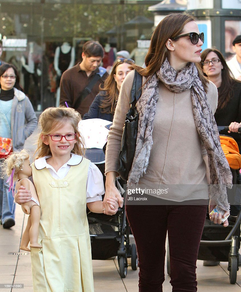 Jennifer Garner and Violet Affleck are seen shopping at The Grove on January 8, 2013 in Los Angeles, California.