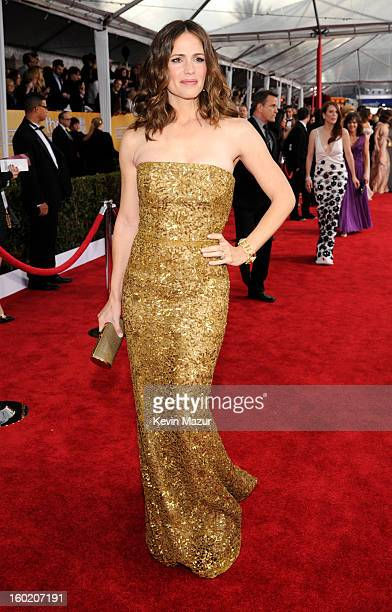 Jennifer Garner attends the 19th Annual Screen Actors Guild Awards at The Shrine Auditorium on January 27 2013 in Los Angeles California...