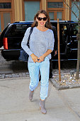 Jennifer Garner is seen arriving at her Downtown hotel on April 9 2014 in New York City