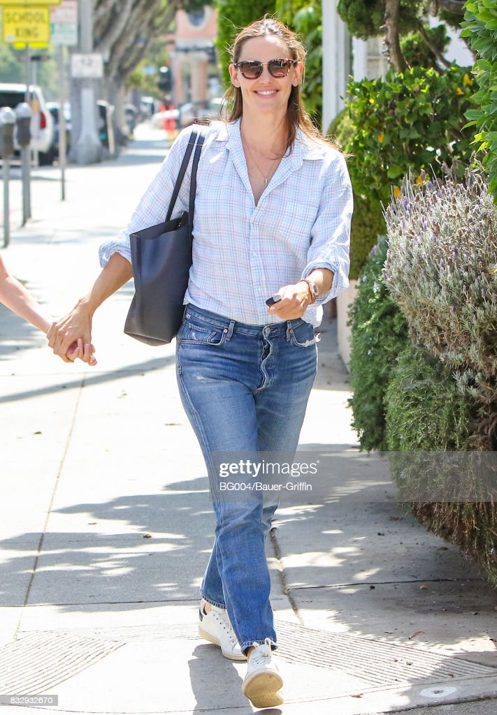 Jennifer Garner is seen on August 16, 2017 in Los Angeles, California.