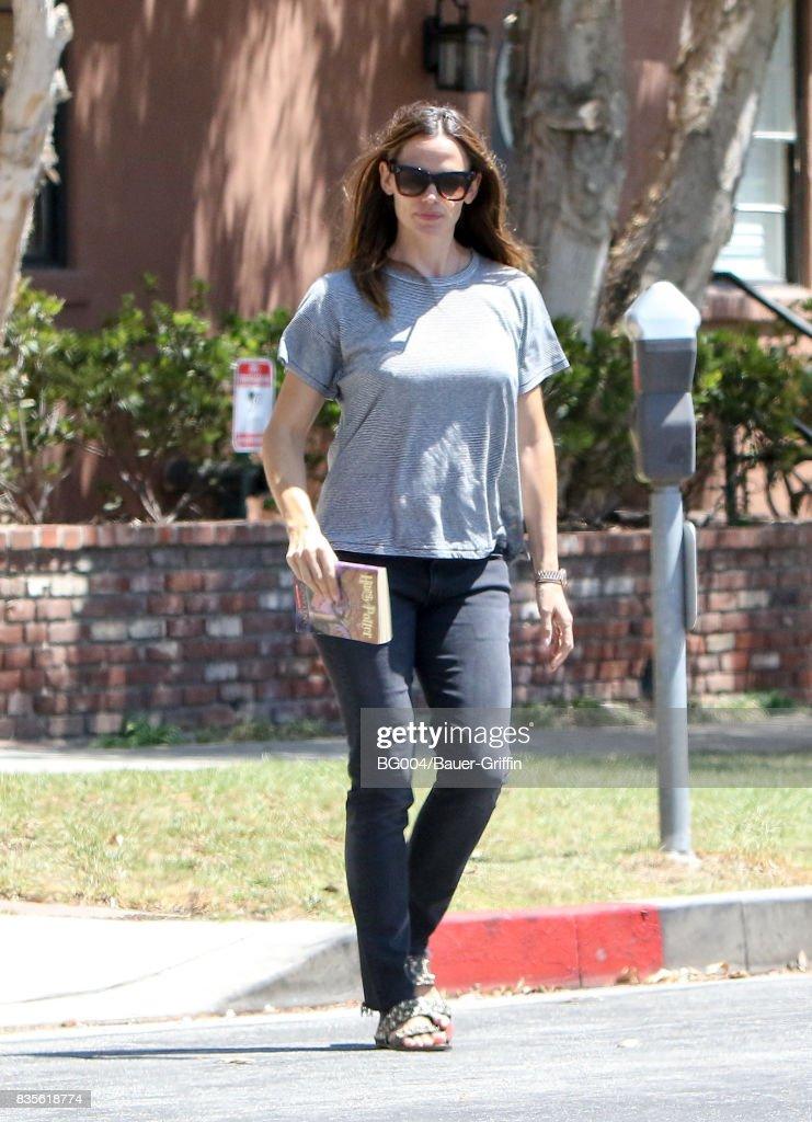 Jennifer Garner is seen on August 19, 2017 in Los Angeles, California.