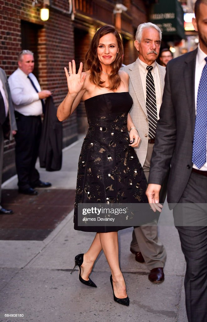 Jennifer Garner leaves 'The Late Show With Stephen Colbert' at the Ed Sullivan Theater on May 18, 2017 in New York City.